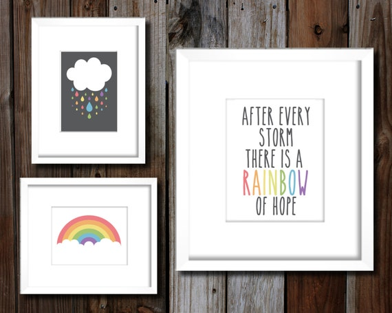 Wall Art Pastel Colours : Diy printable choose your color pastel or bold rainbow baby