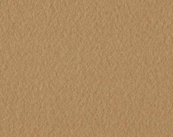Fabric by the 1/4 Yard - Solid Camel Fleece