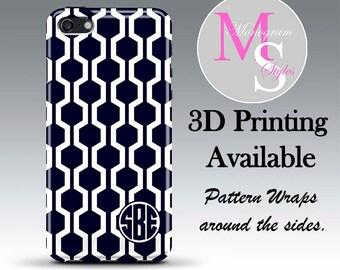 Monogram iPhone 7 Case Personalized Phone Case Morracan Lattice Monogrammed iPhone 6 6S Plus iPhone 4, 4S, Iphone 5, 5S, 5C Tough Case #2052