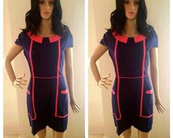Navy and Pink All G.I.R.L. Midi Dress