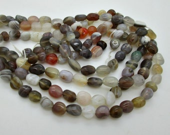 "Botswana Agate Nugget Beads, 8-10mm, Natural Agate Beads, 16"" strand"