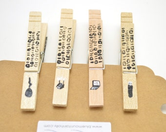 Gift For Computer Geeks, Programmer Gift, Clothespin Magnets, Nerd Gift, Magnet Clips, Refrigerator Magnets, Organization Board