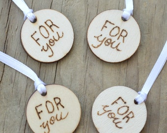Wooden Gift Tags, Small Wooden Tags, Name Tags for Gifts, Name Tags for Presents
