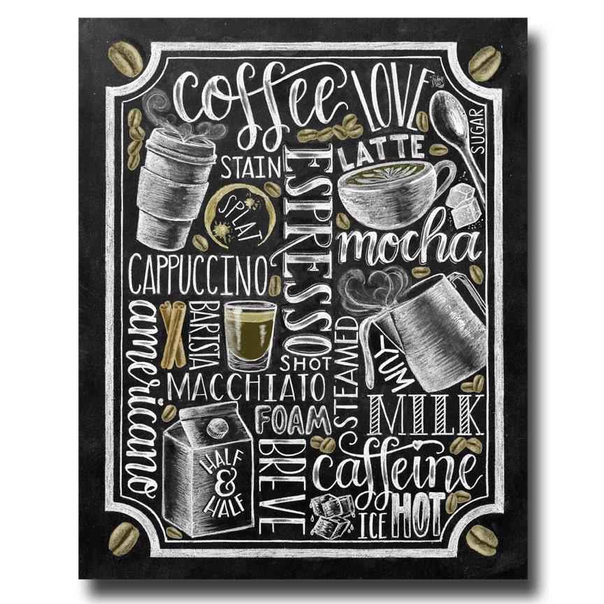 Chalkboard Coffee Art - Amy Latta Creations  |Coffee Chalk Art