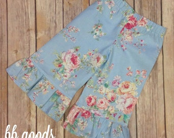 Ruffle Pants - Floral - 6m to 6yr