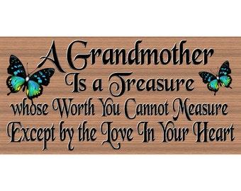 Grandmother Sign - Grandmother Plaque - GG 2573 - Grandmother Gift
