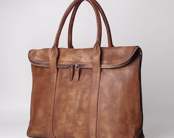 Leather tote,Professional Leather Bag,Leather Laptop Bag,Leather Briefcase,men's Briefcase,15 inch laptop bag,Fathers day gift,Mens gift
