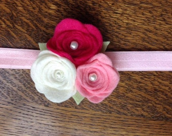 Rose trio headband
