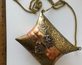 Vintage metal box purse