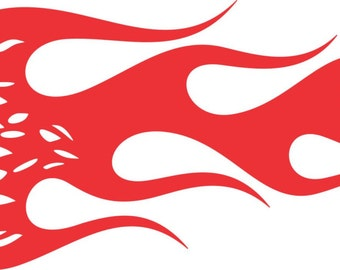 """Eagle with Flames Boat Vehicle Window Wall Laptop Vinyl Decal Sticker 12"""" x 4"""""""