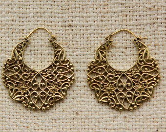 Brass Earring by GayatriTribalCrafts