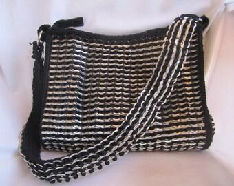 Brazilian handmade woven/crochet soda pop tab caps purse/bag NEW