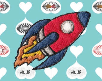 Flying Rocket Patch (FREE SHIPPING)