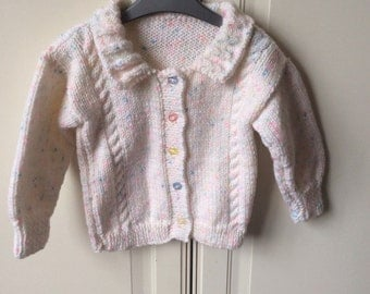 Hand knitted child's cardigan
