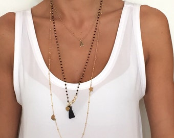 Necklace in 925 Silver with gold plated home.