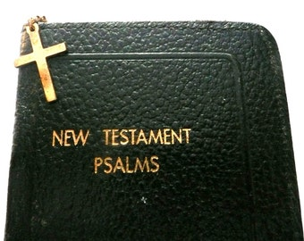 Vintage Leather Bound New Testament Psalms