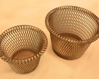 PAIR of Thick Wire Planters