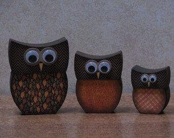 Fall Owl Family #1