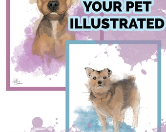 Unique illustrations of YOUR pets! All profits to go to animal charities!