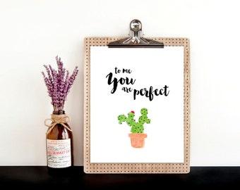 To me you are perfect, printable wall art, digital art, print, wall decor, wall art, kids room decor, home decor, art, nursery decor