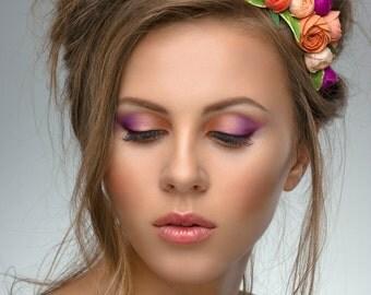 Flower Girl, Flower Crown, Rustic Wedding  Headband, hair flower, fairy wedding hair, hair accessory, flower girl, Wedding Headband Wreath