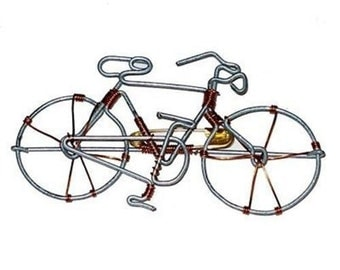 Wire Bicycle Pin