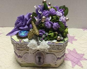 Purple Keepsake Box