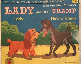 Vintage Little Golden Record Lady and the Tramp
