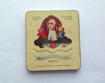 Schimmelpenninck Media Cigarette Tin. Made in Holland. Dutch Collectible tin.