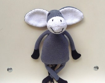 Stuffed gray donkey mouse all fluffy soft
