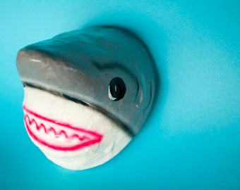 Traditional Mexican paper mache mask Shark.