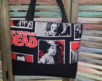 Walking Dead Zombie Panel Bag w/blood splats.