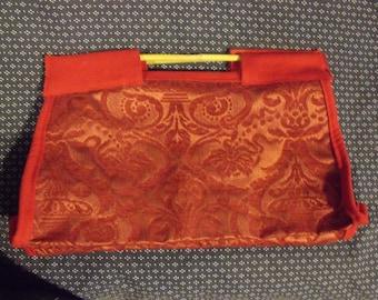 Red Brocade Carpet-style Knitting Bag