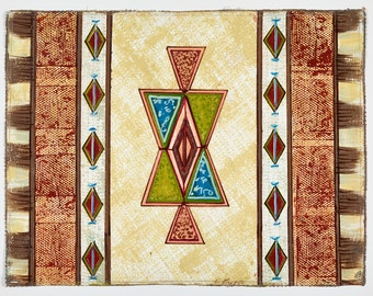 Kilim Placemat  Series - Triangles