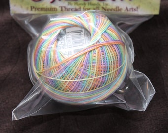 Lizbeth Thread size 10 Rainbow Taffy #153