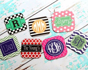 Personalized Square Hardboard Coaster set  Set of  4