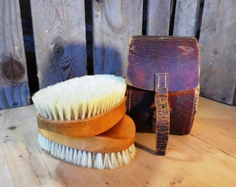 WW1 British Officers Brush set Clothes Brush Gentleman's Grooming  Mantique