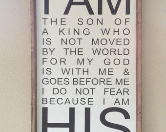 I am His sign
