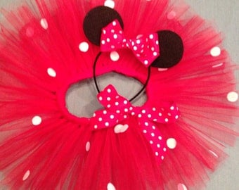 Minnie Mouse Style Tutu and Ears Headband