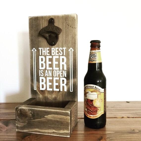 Cap Catcher Wood Bottke Opener Beer Opener Bottle Cap