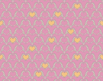 Riley Blake Zombie Love Hearts Pink Cotton Woven Fabric