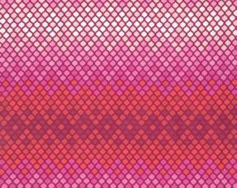Tula Pink Eden Mosaic in Magenta Cotton Fabric
