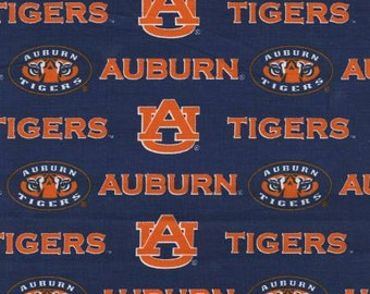Auburn Tigers 65/35 Poly Cotton Twill Fabric 59 Inches wide