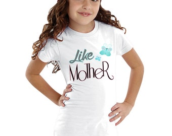 Like Mother Butterfly Girls Shirt
