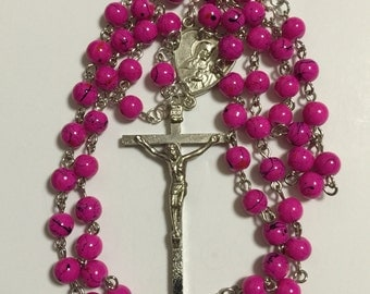 Pink Multi-colored Rosary