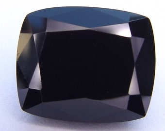 Natural Black Spinel Cushion cut 11x9mm. loose gemstones and beads. set on ring. loose spinel.