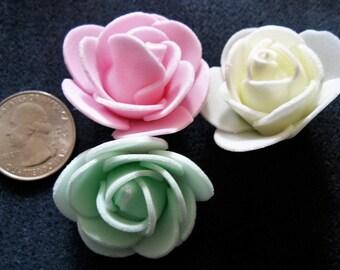 Foam Rosebuds - Pastels, Brights, or Black