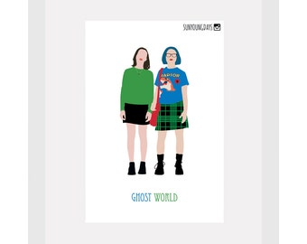ghost world movie poster postcard 4'X6'
