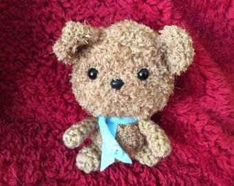 Fleece Scruffy bear crochet