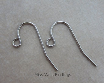 100 stainless steel plain ear wires 21 gauge